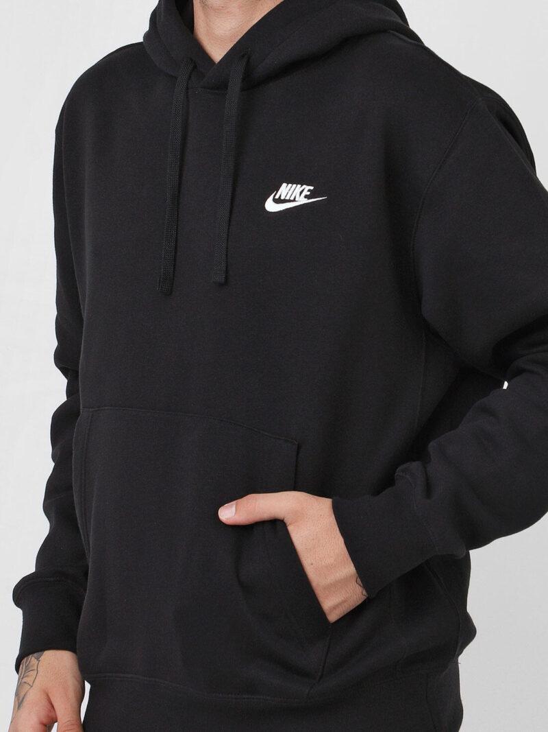 nike sportswear moletom flanelado fechado nike sportswear nsw club hoodie po bb preto 6785 9860785 1 zoom