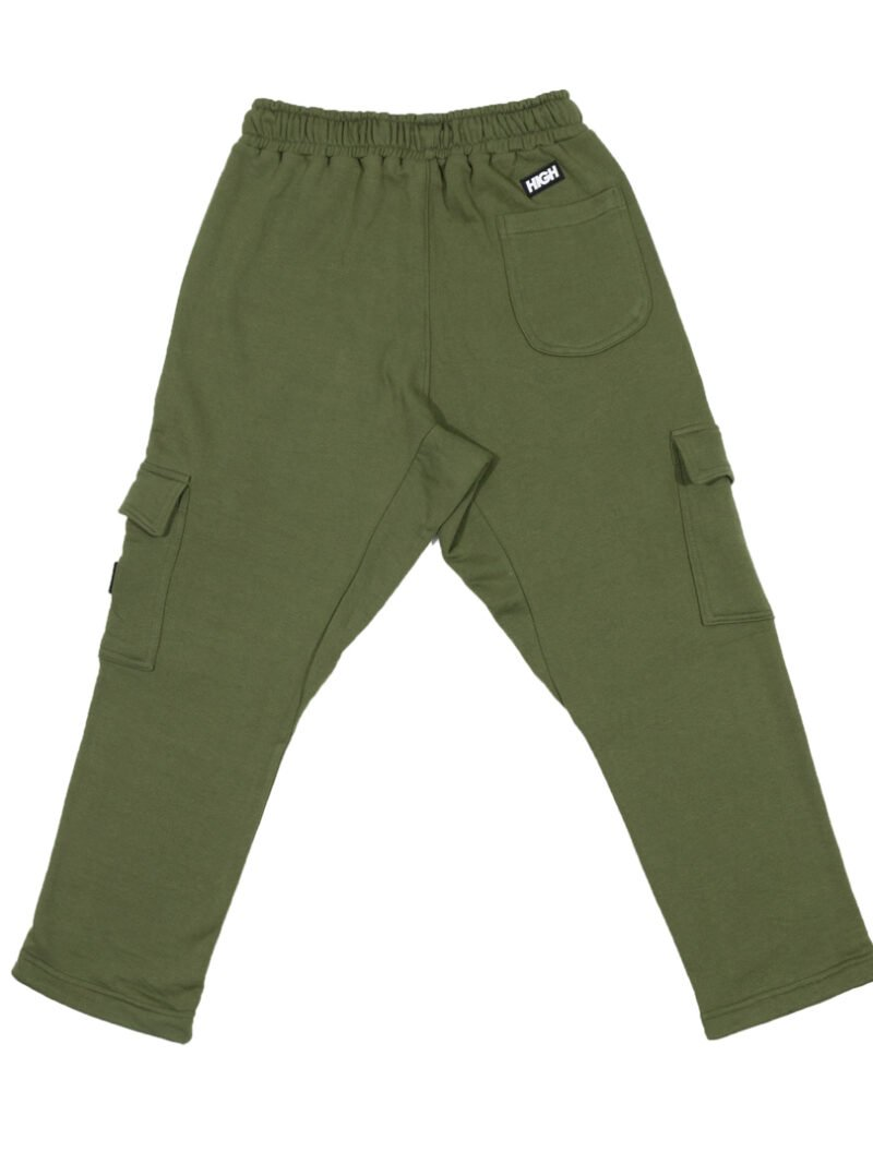 sweatpants cargo olivegreen back